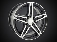 Alloy wheel of a car royalty free stock images