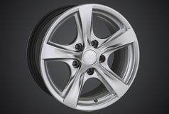 Alloy wheel of a car stock photos