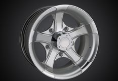 Alloy wheel of a car stock image