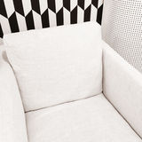 Stylish white armchair Stock Photos