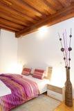 Stylish white bedroom Stock Image