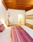 Stylish white bedroom Royalty Free Stock Images