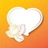 Stylish white heart Royalty Free Stock Image