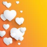 Stylish white heart Stock Photos