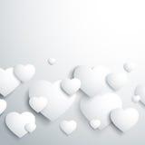 Stylish white heart Royalty Free Stock Images