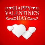 Stylish white heart Stock Images