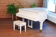 Stylish White Piano Royalty Free Stock Photography