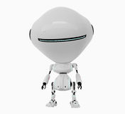 Stylish white robot Stock Photo