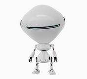 Stylish white robot Stock Photo