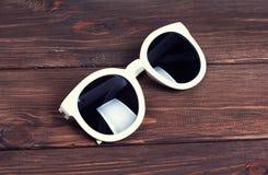 Stylish white sunglasses Royalty Free Stock Photo
