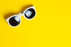 Stylish white sunglasses Royalty Free Stock Image