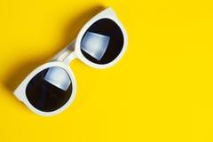 Stylish white sunglasses Stock Photos