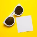Stylish white sunglasses Royalty Free Stock Photography