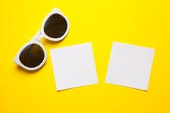 Stylish white sunglasses Stock Photography