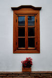 Stylish window. Beautiful decorated window of old serbian house in Nis Royalty Free Stock Images