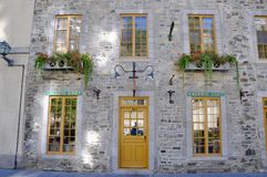 Stylish Window in Quebec City Stock Images