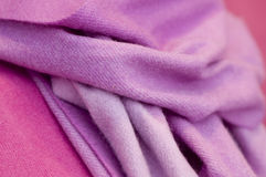 Stylish winter wool scarf and sweater royalty free stock photography