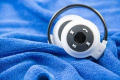 Stylish wireless bluetooth headset Royalty Free Stock Photos