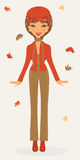 Stylish woman in autumn Royalty Free Stock Image