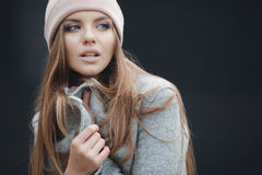 Stylish woman in the city in autumn Stock Images