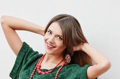 Stylish woman close portrait Stock Photography