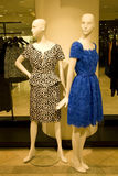 Stylish woman clothing on mannequins at store stock image