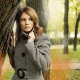 Stylish woman fashion model, fashion portrait Stock Images
