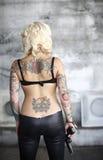 Stylish woman with gun Stock Image