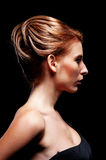 Stylish woman with hairdo Royalty Free Stock Photography