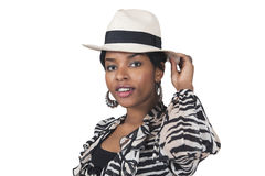 Stylish woman in hat Royalty Free Stock Photography
