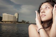 Stylish woman headshot Stock Images