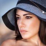 Stylish woman portrait stock photos