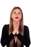 Stylish woman praying Stock Image