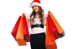 Stylish woman with shopping bag Stock Image