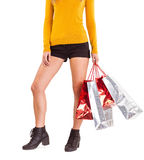 Stylish woman with shopping bags Stock Image