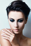 Stylish woman with short hair Stock Photos