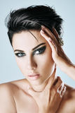 Stylish woman with short hair Royalty Free Stock Image