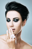 Stylish woman with short hair Royalty Free Stock Images