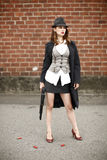 Stylish woman with shotgun Royalty Free Stock Photo