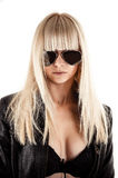 Stylish woman with sunglasses Stock Photography