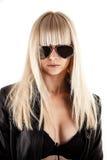 Stylish woman with sunglasses. Beautiful stylish woman with sunglasses Stock Photography