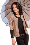 Stylish woman with an umbrella Royalty Free Stock Images