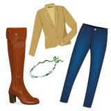 Stylish woman wardrobe. Stock Photo