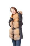 Stylish woman in winter fashion Royalty Free Stock Images