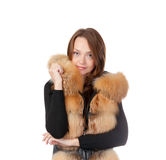 Stylish woman in winter fashion Stock Image