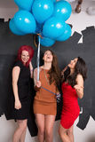 Stylish Women With Balloons Royalty Free Stock Photo