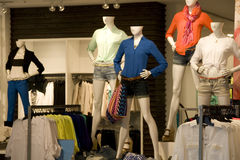 Women clothing fashion store interiors Royalty Free Stock Photography