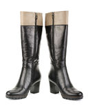 Stylish women's boots Royalty Free Stock Photography