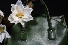 Stylish women's leather bag Royalty Free Stock Photography