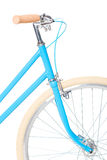 Stylish womens blue bicycle isolated on white Stock Image